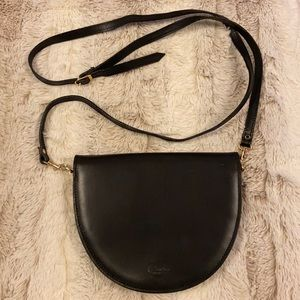 Vintage Sandro Leather Half Oval Crossbody Bag